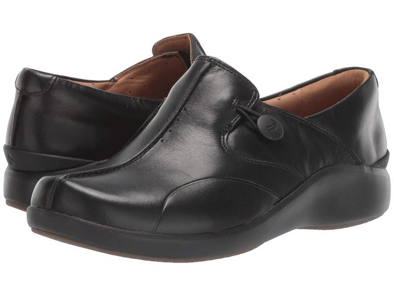 クラークス レディース スニーカー シューズ Un Loop 2 Walk Black Leather