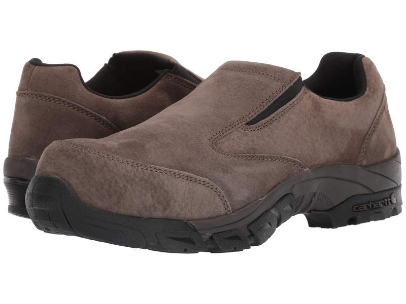 カーハート メンズ スニーカー シューズ Lightweight Carbon Nano Toe Slip-On Work Shoe Brown Suede