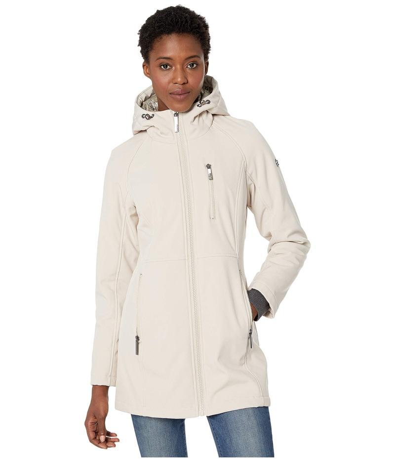 カルバンクライン レディース コート アウター Softshell Jacket with Packable Bib Insert Oyster