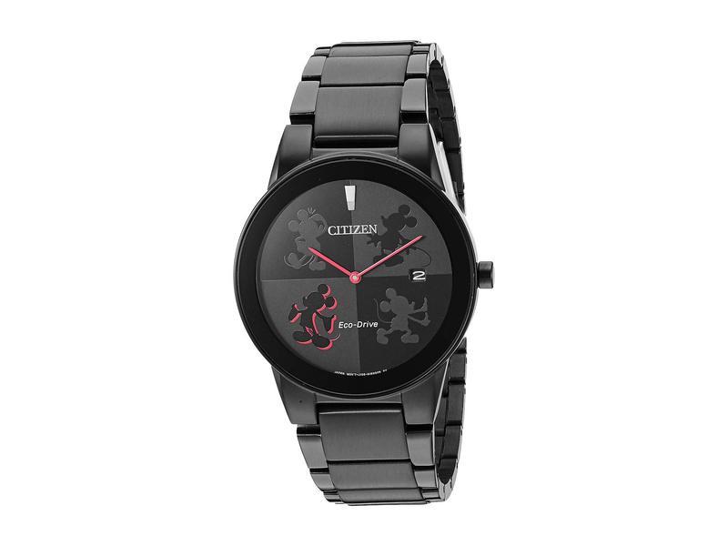 シチズンウォッチ メンズ 腕時計 アクセサリー Mickey Mouse AU1069-57W Black