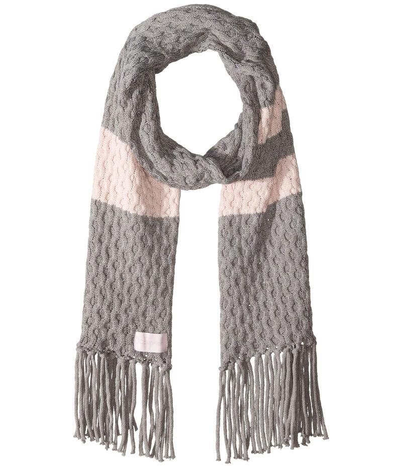 カルバンクライン レディース マフラー・ストール・スカーフ アクセサリー Striped Cable Scarf Clear Pink