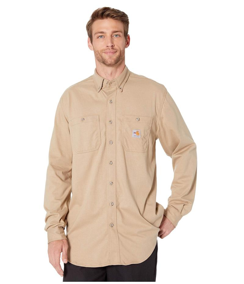 カーハート メンズ シャツ トップス Flame-Resistant Force Cotton Hybrid Shirt Khaki