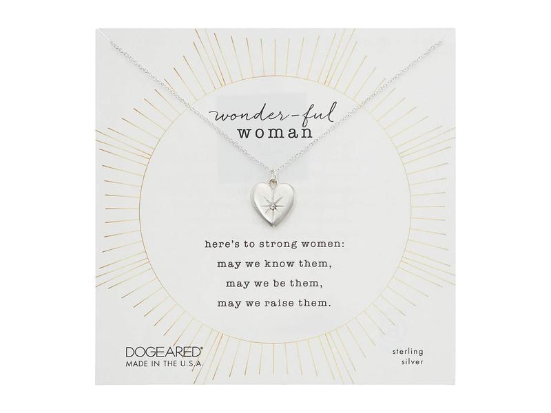 ドジャード レディース ネックレス・チョーカー・ペンダントトップ アクセサリー Wonderful Woman, Crystal Heart Necklace Sterling Silver