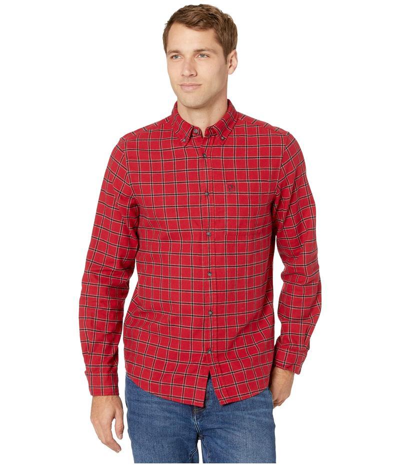 フェールラーベン メンズ シャツ トップス vik Flannel Shirt Deep Red