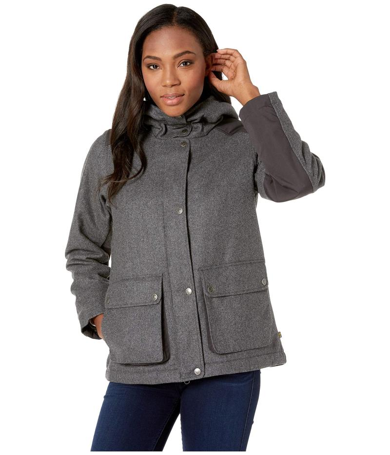 フェールラーベン レディース コート アウター Greenland Re-Wool Jacket Grey