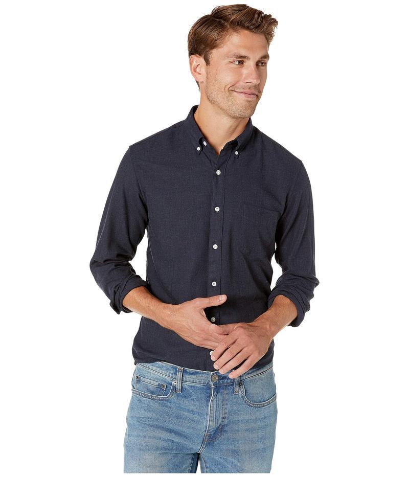 ジェイクルー メンズ シャツ トップス Slim Neppy Cotton Twill Shirt Navy Heather