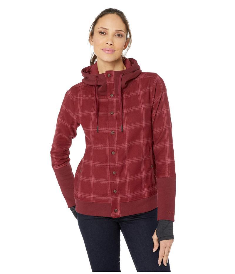 マーモット レディース コート アウター Stowe Heavyweight Flannel Long Sleeve Shirt Claret