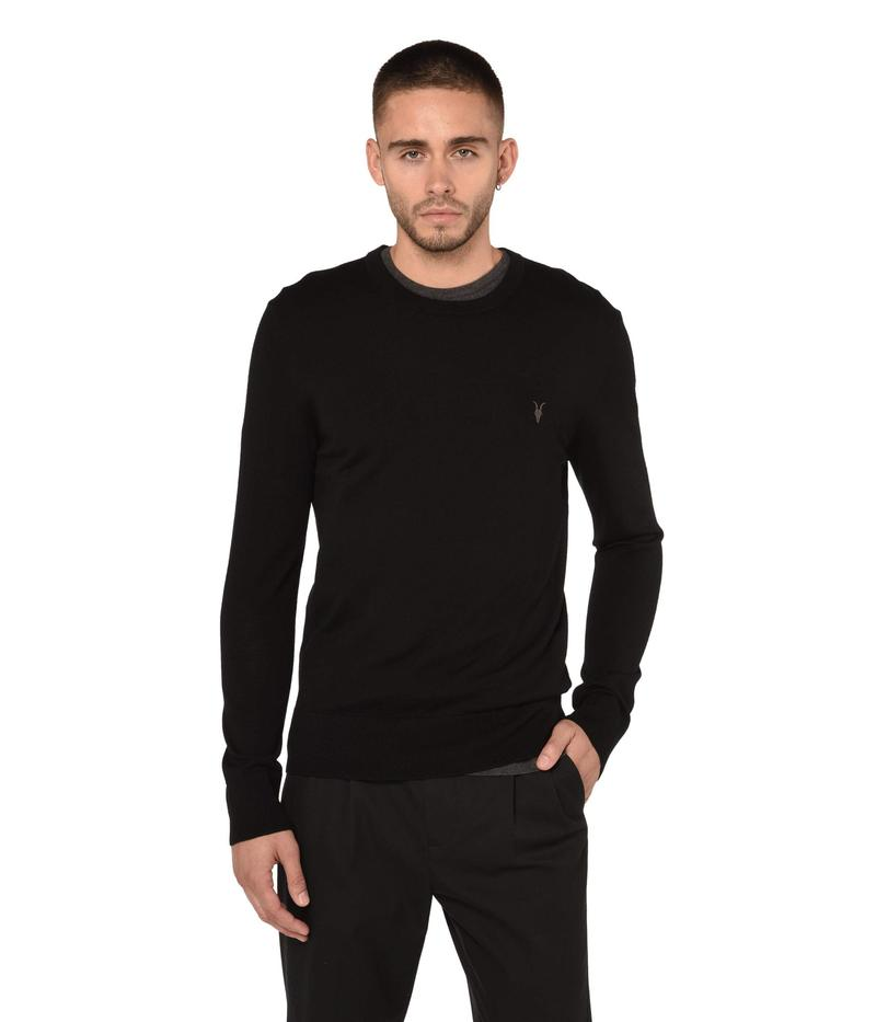 オールセインツ メンズ ニット・セーター アウター Mode Merino Crew Sweater Black