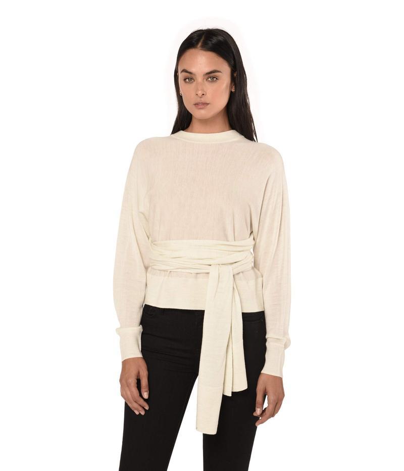 オールセインツ レディース ニット・セーター アウター Flora Sweater Ivory White Mar