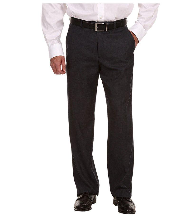 ペリーエリス メンズ カジュアルパンツ ボトムス Classic Fit Flat Front Sharkskin Pant Azure BlueRL4q35Aj