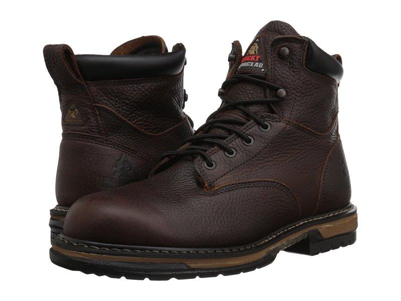 ロッキー メンズ ブーツ・レインブーツ シューズ 6 Ironclad Soft Toe WP Brown