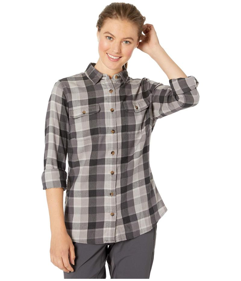 マウンテンカーキス レディース シャツ トップス Pearl Street Flannel Shirt Black