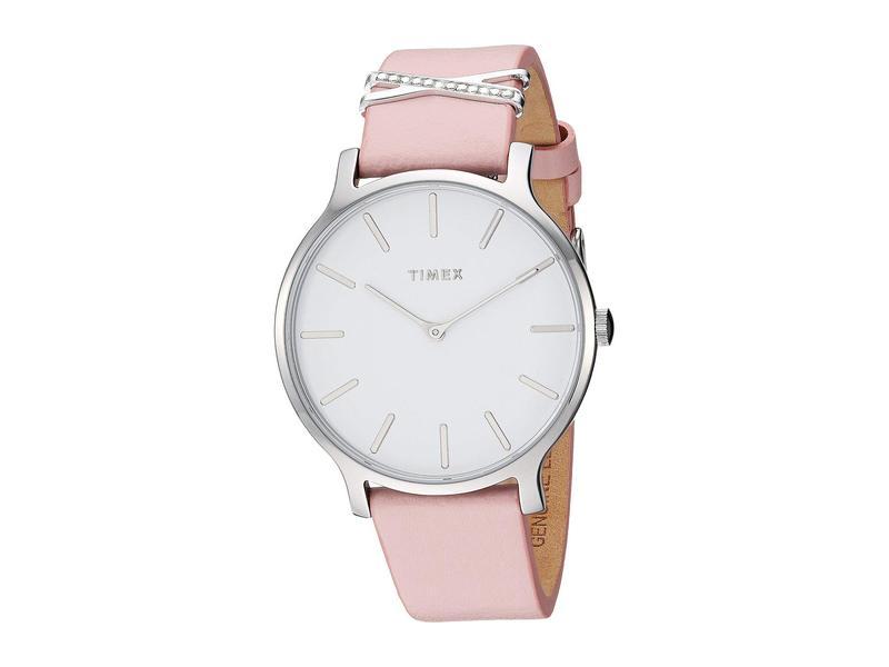 タイメックス レディース 腕時計 アクセサリー 38 mm Transcend Leather Strap Pink/White