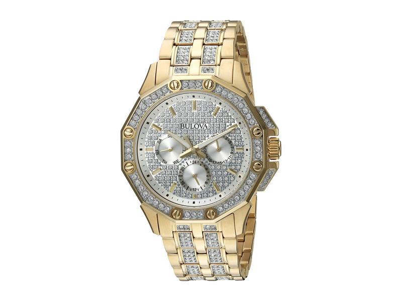 ブロバ メンズ 腕時計 アクセサリー Crystal - 98C126 Gold
