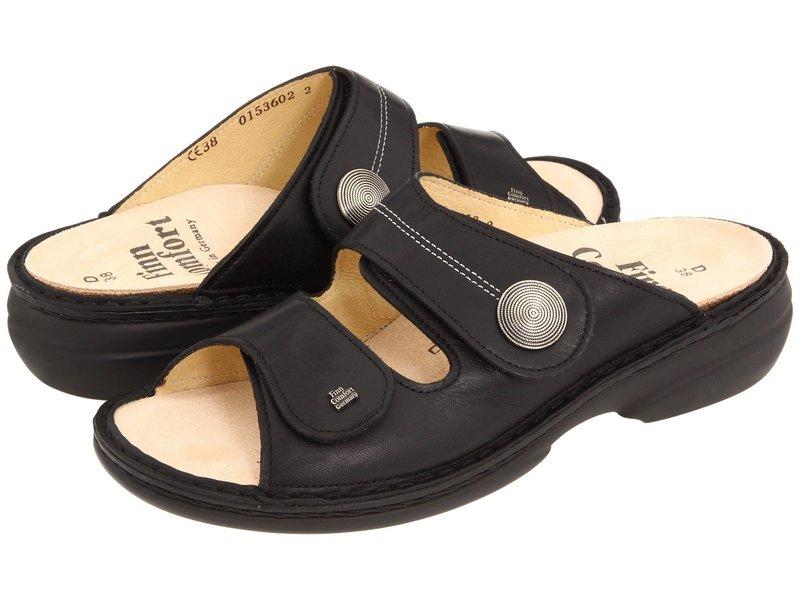 フィンコンフォート レディース サンダル シューズ Sansibar - 82550 Black Nappa Lea
