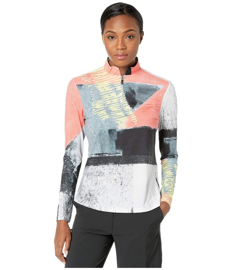 ジャイミーサドック レディース シャツ トップス Sunsense 50 UVP Tokyo Print Long Sleeve 1/4 Zip Top Pink