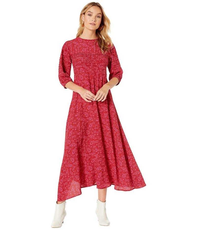 フリーピープル レディース ワンピース トップス Jessie Midi Dress Red