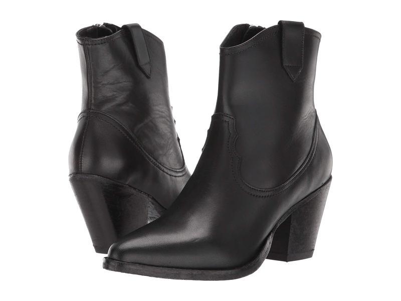 オールセインツ レディース ブーツ・レインブーツ シューズ Rolene Cowboy Ankle Boot Black Calf