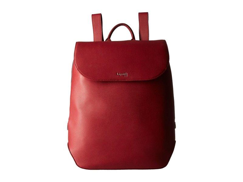リパルトパリ レディース バックパック・リュックサック バッグ Plume Elegance Leather Laptop Medium Backpack Ruby