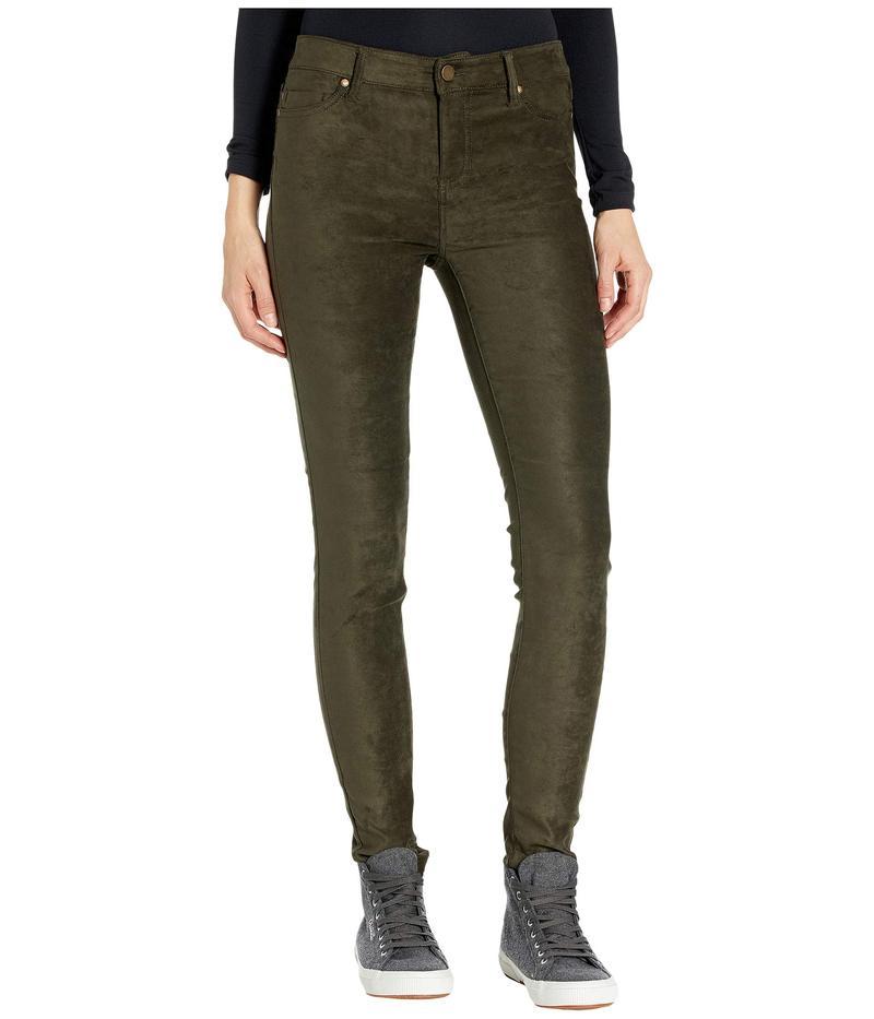 リバプール レディース デニムパンツ ボトムス Abby Stretch Suede Skinny Jeans in Slate Green Slate Green