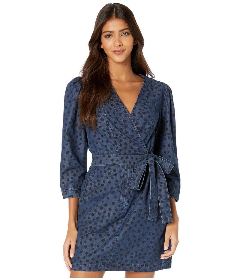 レベッカテイラー レディース ワンピース トップス Long Sleeve Faune Denim Dress Medium Indigo W