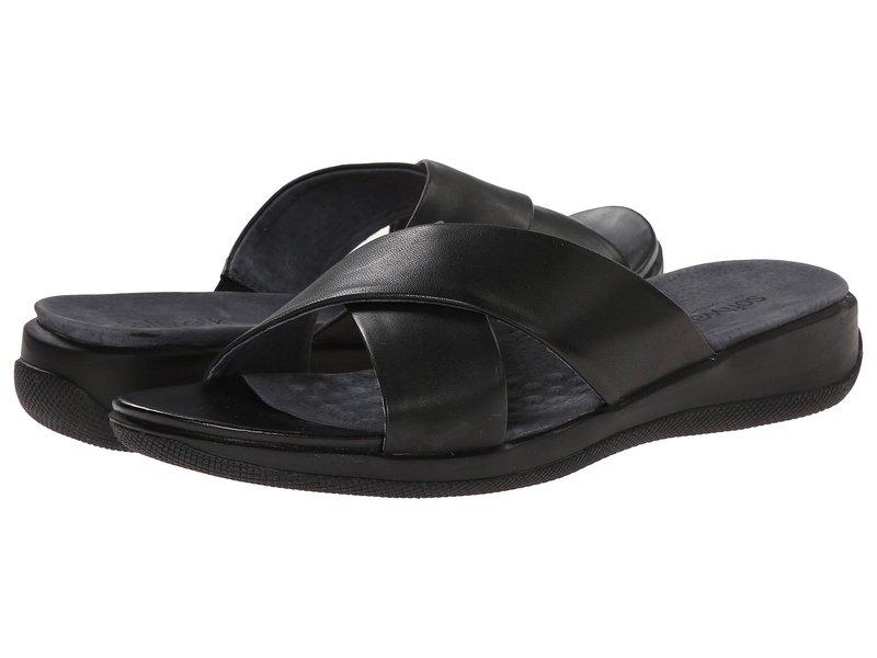 ソフトウォーク レディース サンダル シューズ Tillman Black Soft Nappa Leather