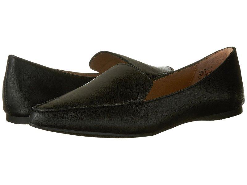 スティーブ マデン レディース サンダル シューズ Feather Loafer Flat Black Leather