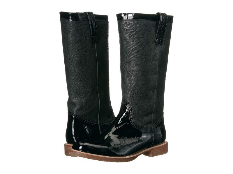 ルチーズ レディース ブーツ・レインブーツ シューズ All-Weather Waterproof Rain Boot Black Patent