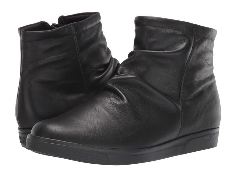 ムンロー レディース ブーツ・レインブーツ シューズ Abbot Black Leather