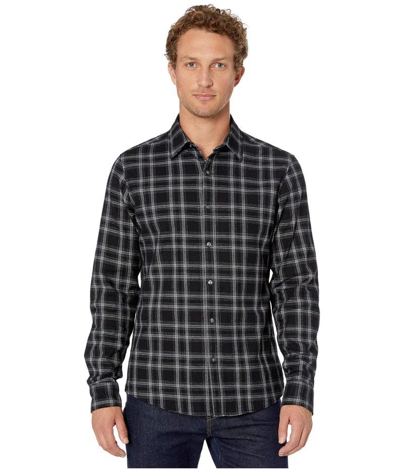 マイケルコース メンズ シャツ トップス Finn Long Sleeve Slim Fit Shirt Black