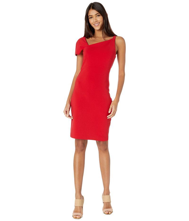 ニコルミラー レディース ワンピース トップス Heavy Jersey One Shoulder Mini Dress Cherry Red