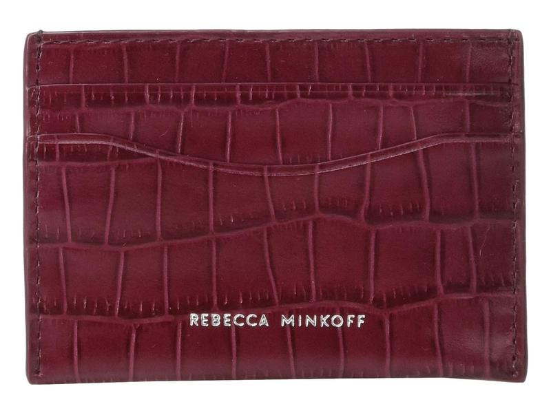 レベッカミンコフ レディース 財布 アクセサリー Card Case Pinot Noir