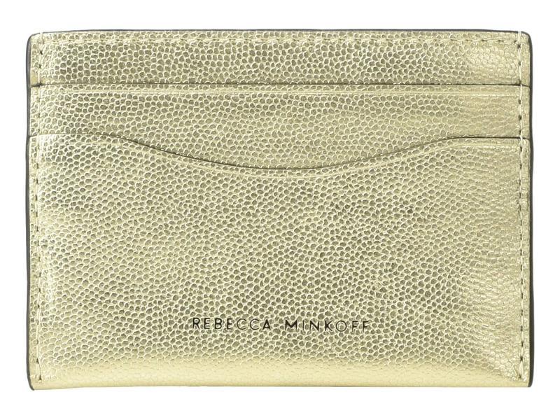 レベッカミンコフ レディース 財布 アクセサリー Card Case Gold 1