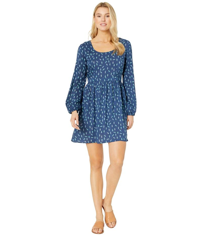 ローパー レディース ワンピース トップス 9891 Feather Print Dress Blue