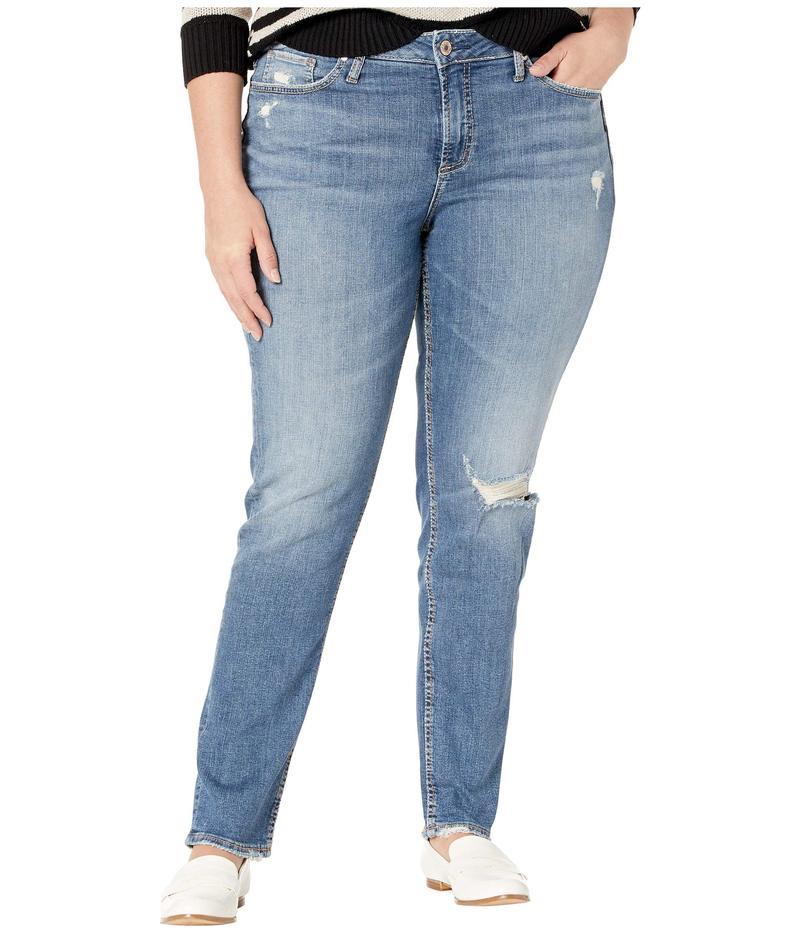シルバー ジーンズ レディース デニムパンツ ボトムス Plus Size Avery High-Rise Slim Leg Jeans in Indigo W94317SJL211 Indigo