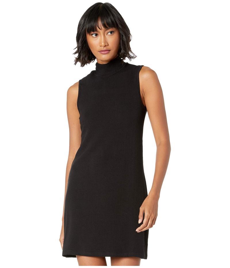 サンクチュアリー レディース ワンピース トップス Essential Sleeveless Mock Dress Black