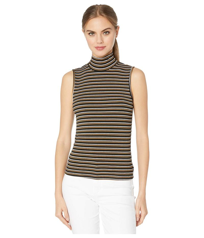 サンクチュアリー レディース ニット・セーター アウター Essential Sleeveless Mock Neck Fall Stripe