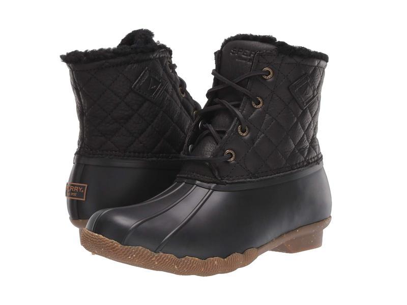 スペリー レディース ブーツ・レインブーツ シューズ Saltwater Winter Lux Black Quilt