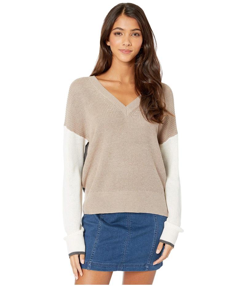スプレンディット レディース ニット・セーター アウター Gemma Color Block Pullover Sweater Heather Toast