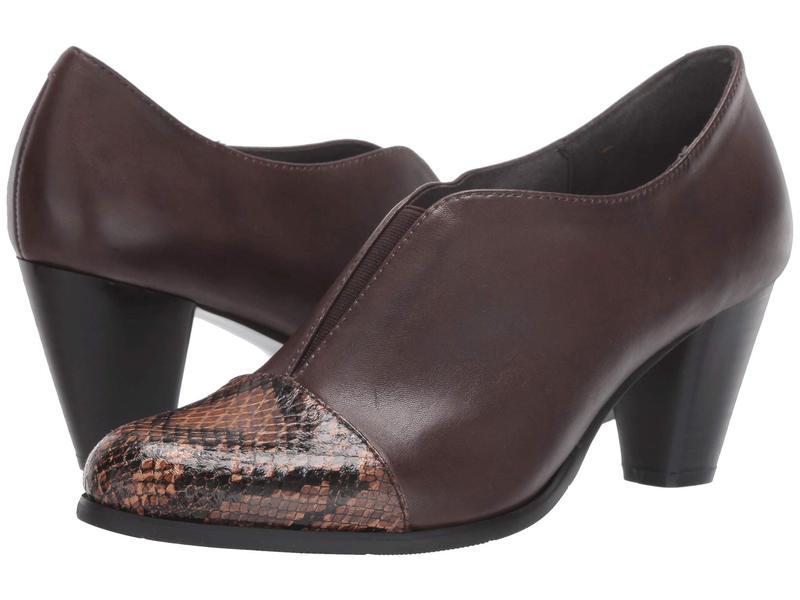 スプリングステップ レディース ヒール シューズ Carolyne Chocolate Brown