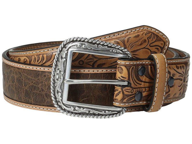 アリアト メンズ ベルト アクセサリー Croc Design Belt Tan