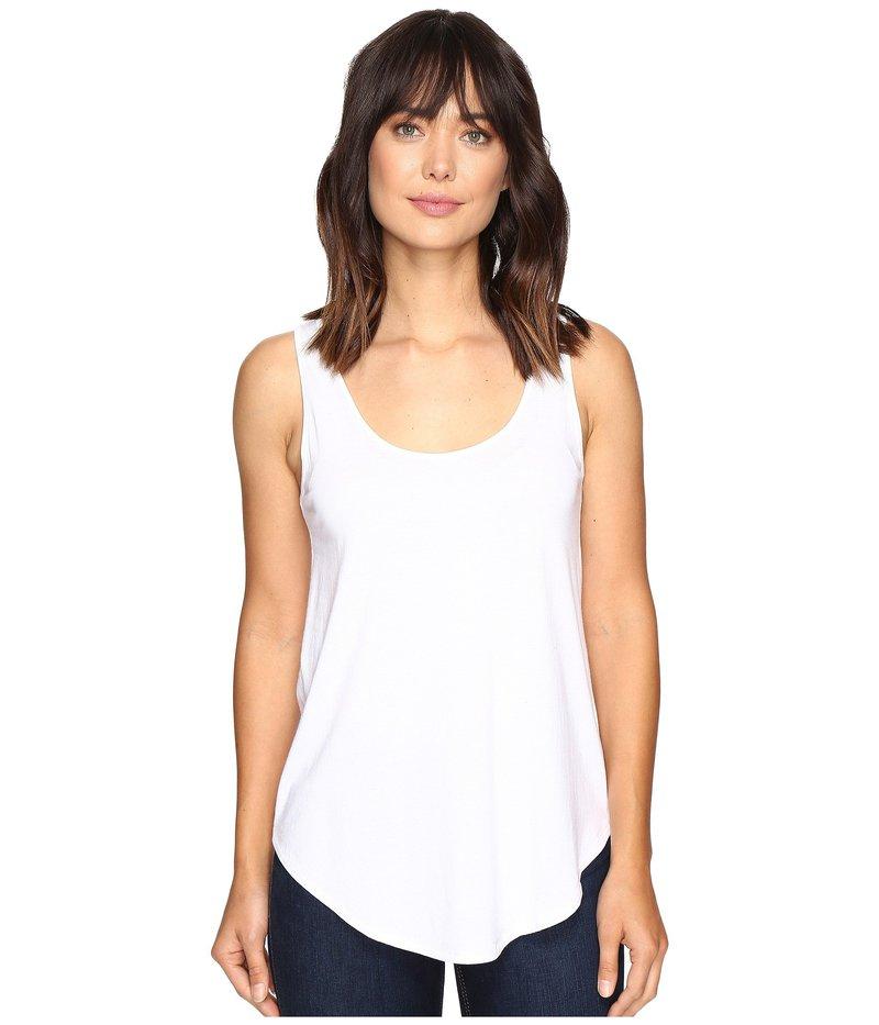 リラピー レディース シャツ トップス Pima Modal Shirttail Scoop White