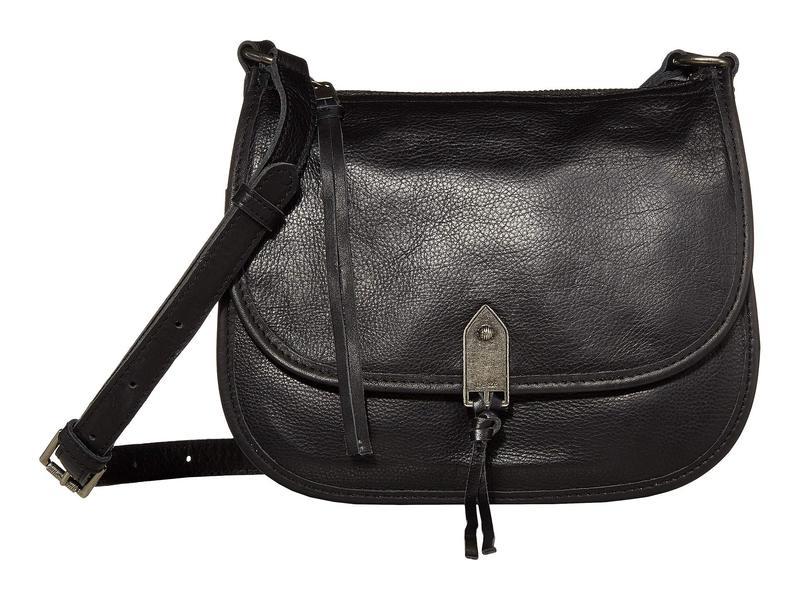 ザサック レディース ハンドバッグ バッグ Playa Leather Saddle Bag Black