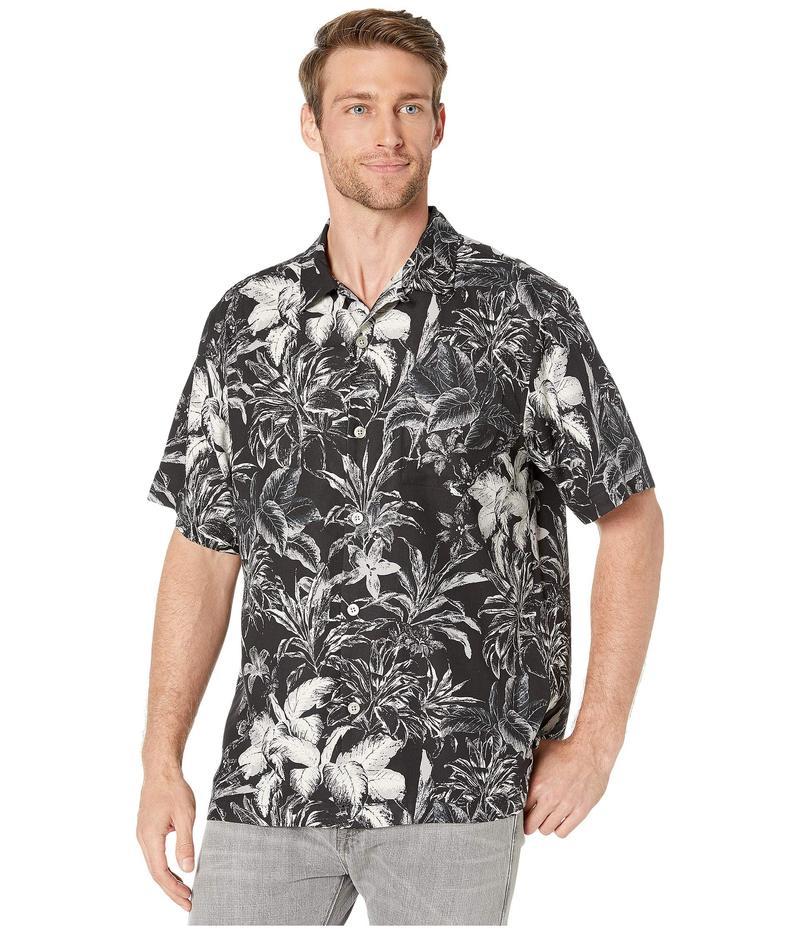 トッミーバハマ メンズ シャツ トップス Elegant Sketch Camp Shirt Black