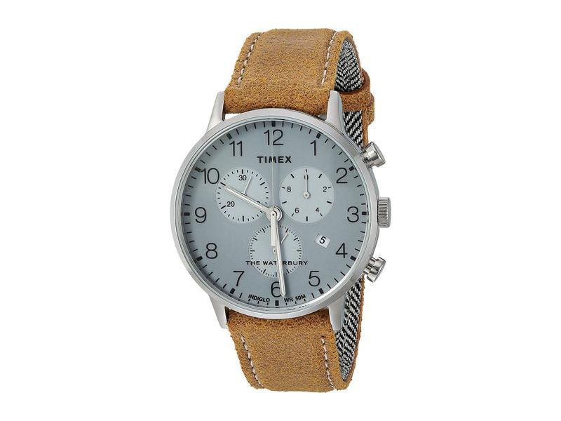タイメックス メンズ 腕時計 アクセサリー 40 mm Waterbury Classic Chronograph Silver/Silver/T