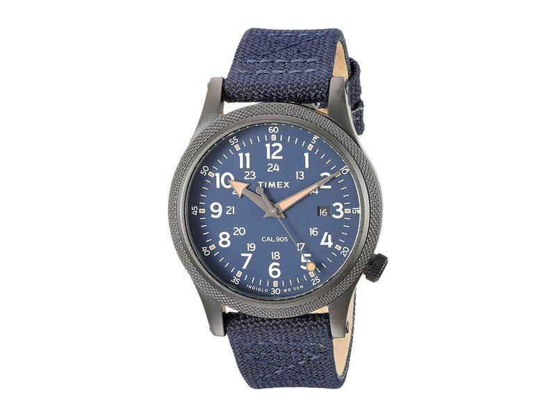 タイメックス メンズ 腕時計 アクセサリー Allied 40mm Stonewashed Fabric Strap Watch Gunmetal/Blue/B