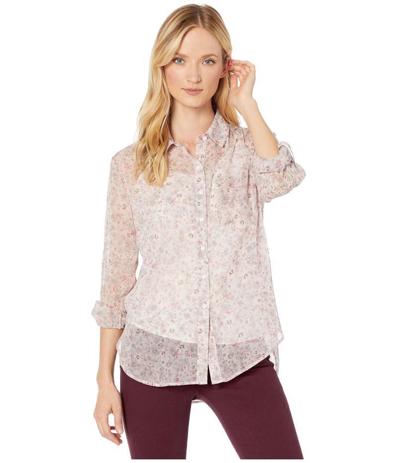 トゥーバイビンスカムート レディース シャツ トップス Long Sleeve Floral Layers Shirred Shoulder One-Pocket Shirt Soft Pink
