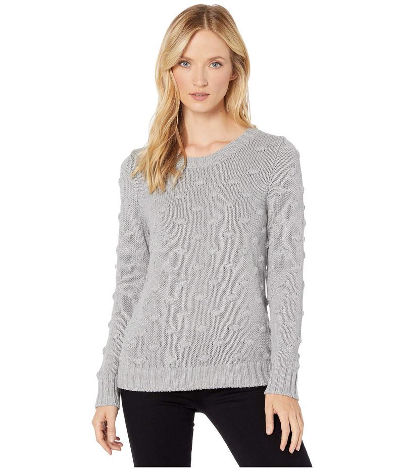 トゥーバイビンスカムート レディース ニット・セーター アウター Long Sleeve All Over Popcorn Sweater Silver Heather