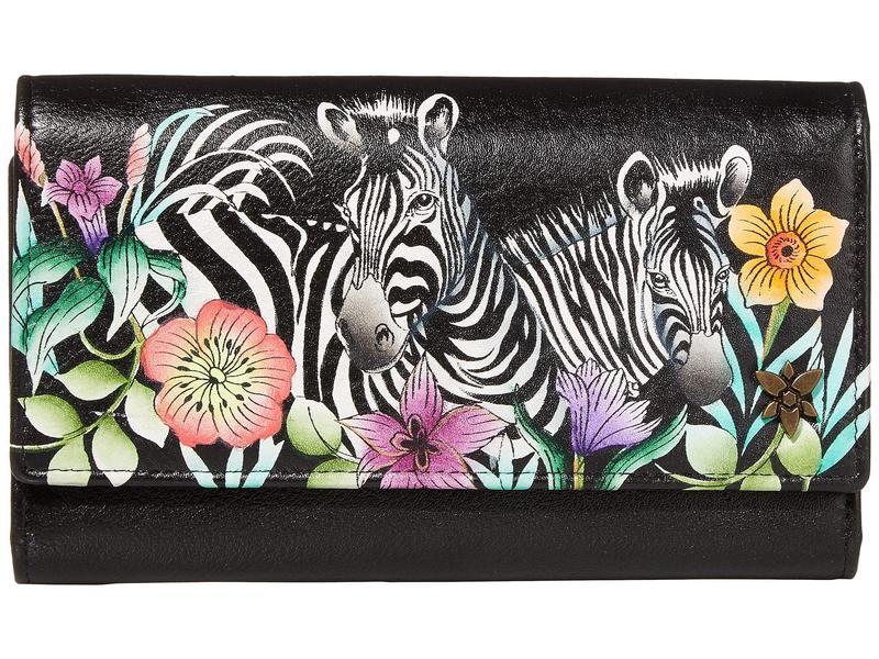 アヌスカ レディース 財布 アクセサリー Triple Fold RFID Clutch Wallet - 1150 Playful Zebras