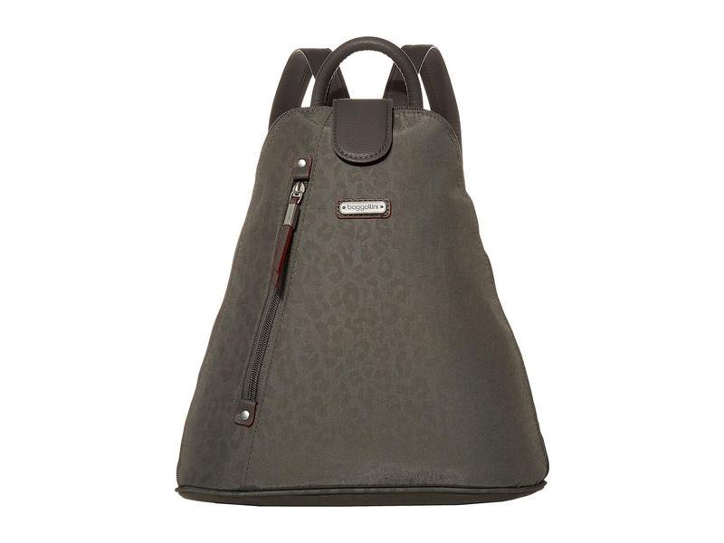 バッガリーニ レディース バックパック・リュックサック バッグ New Classic Metro Backpack with RFID Phone Wristlet Pewter/Cheetah